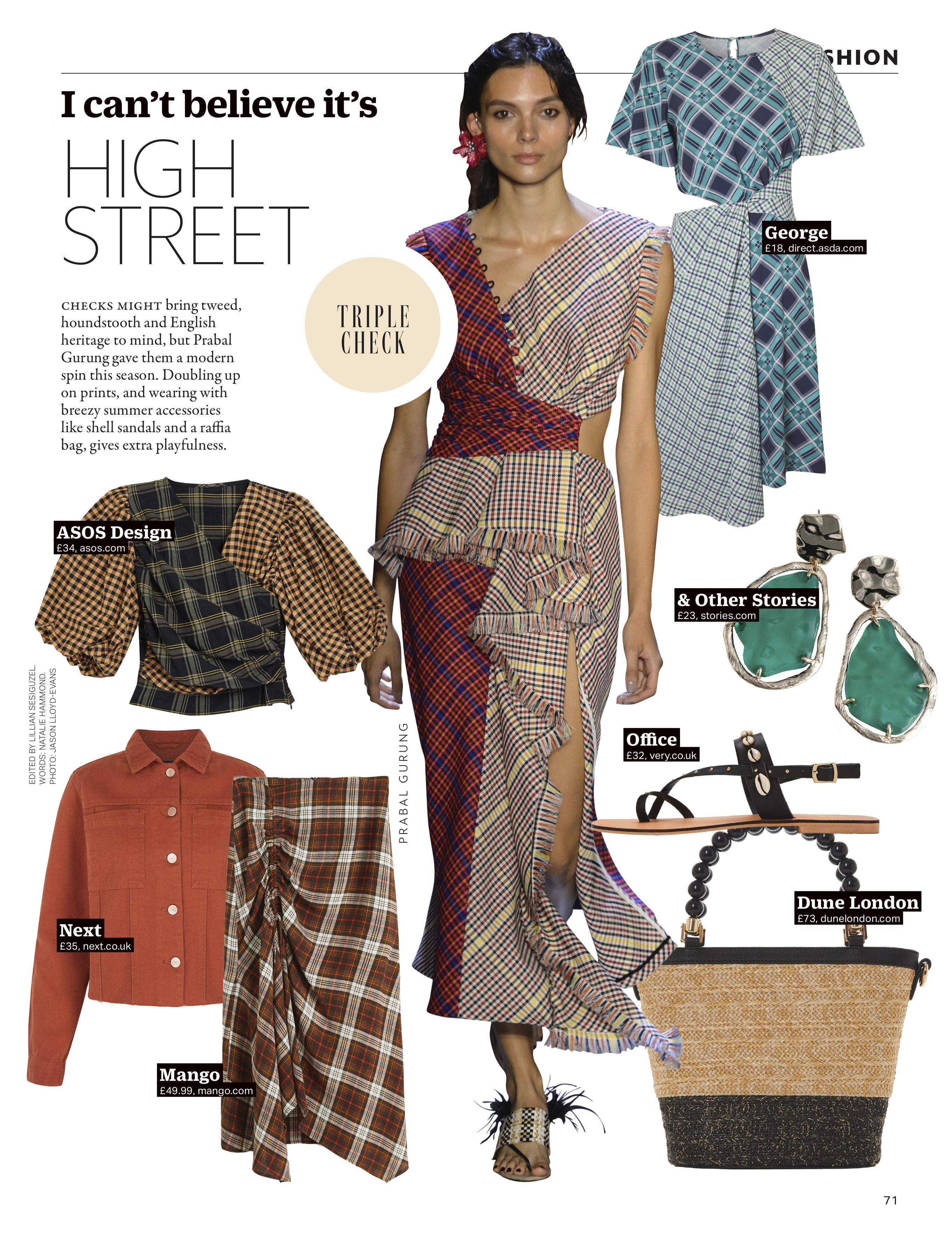 grazia magazine high street triple checks