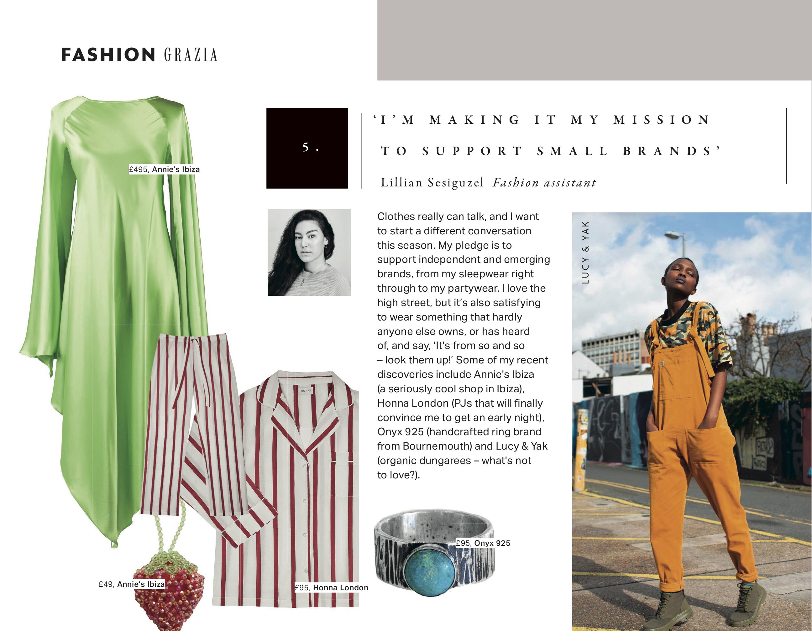 grazia magazine fashion pledge