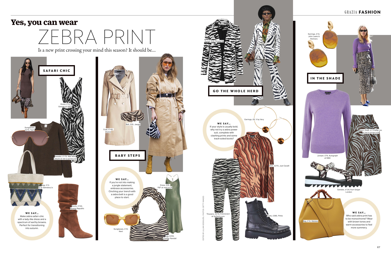 Grazia magazine yes you can wear zebra print