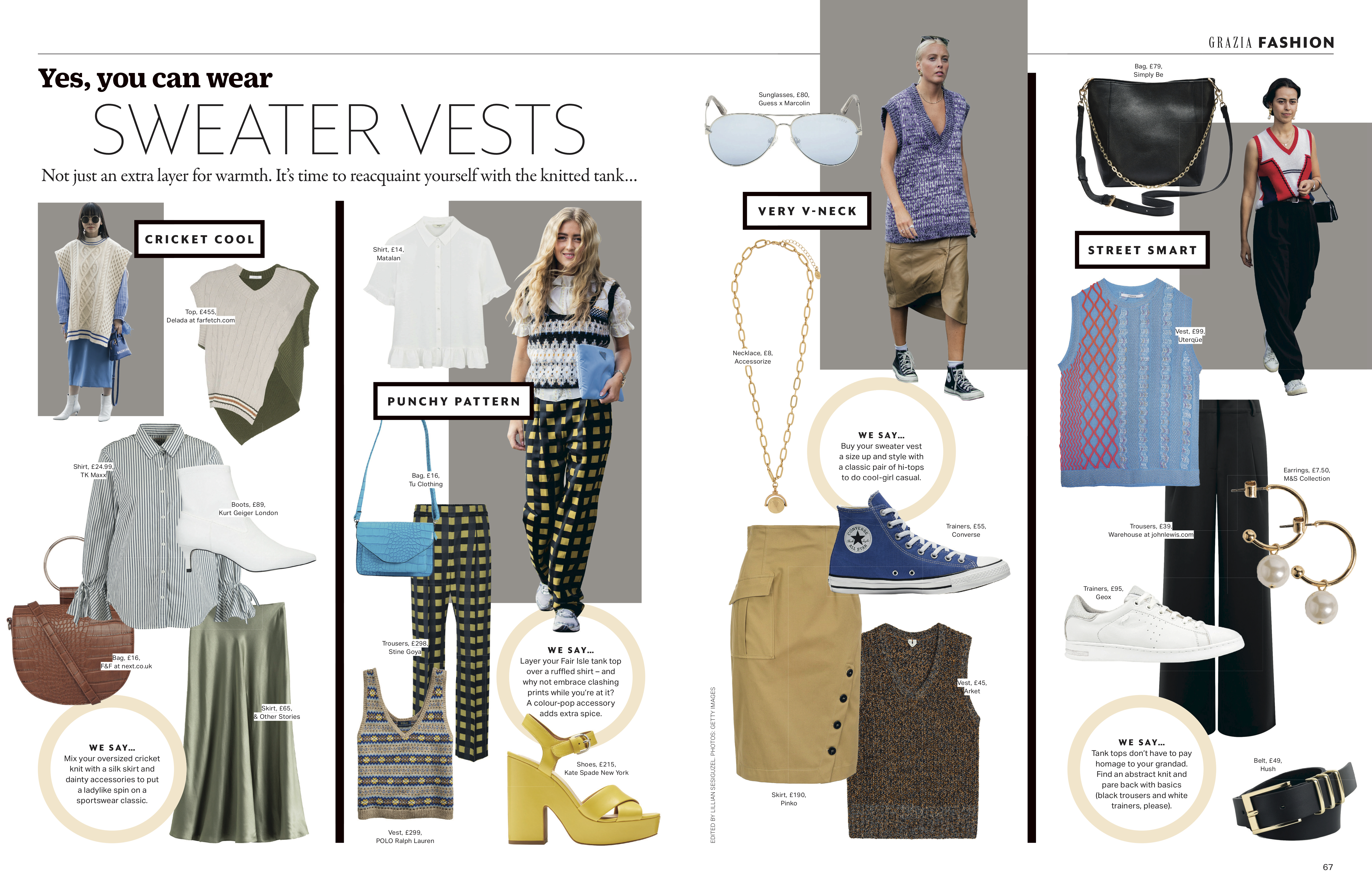 Grazia magazine yes you can wear sweater vests